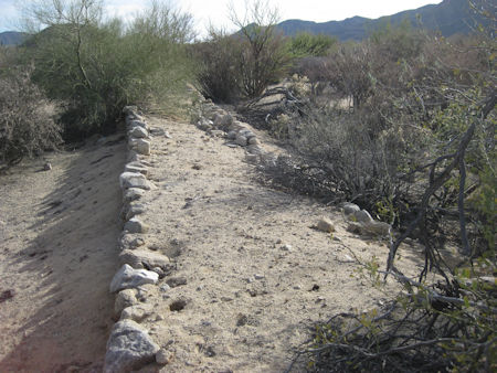 Las Flores Railroad bed