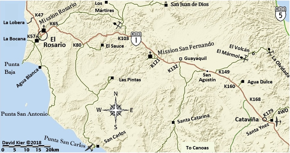 Map of Rancho El Sauce