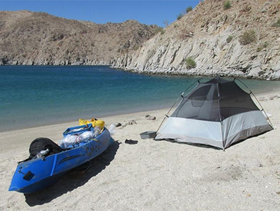 Camp on the Sea of Cortez