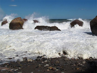 Rough water in the Sea of Cortez