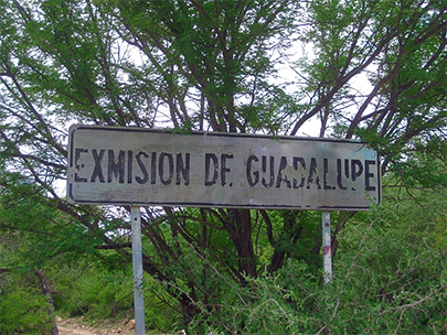 Mission Guadalupe sign
