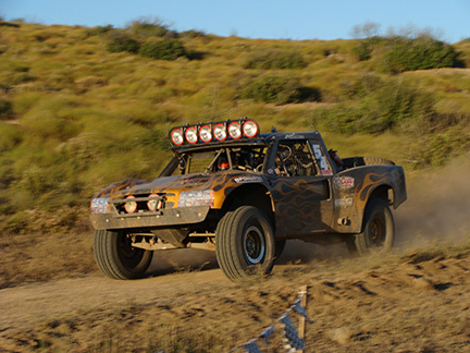 Jesse James racing Baja