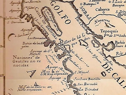 Old Map of Mission Magdalena