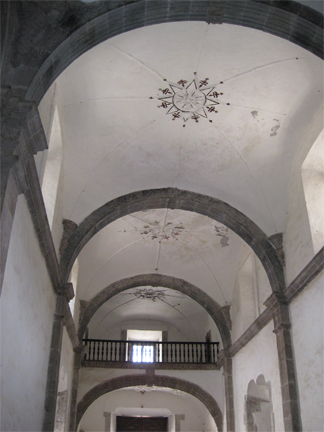 Mission San Francisco Javier ceiling