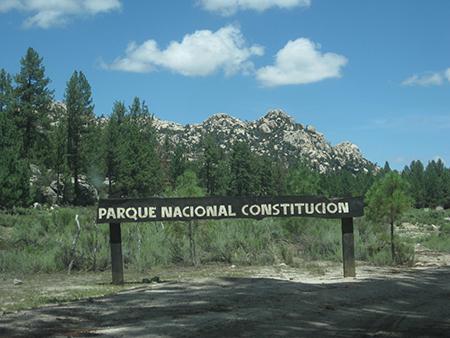 Parque Constitucion entrance