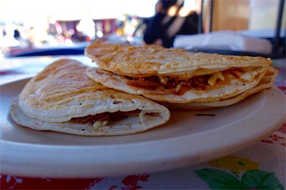 Loreto Farmers Market quesadillas